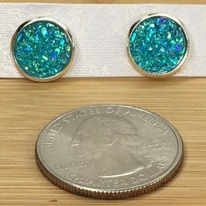 Jewelry - Blue Druzy Earrings
